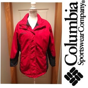 Columbia waterproof winter coat w/hood. Large